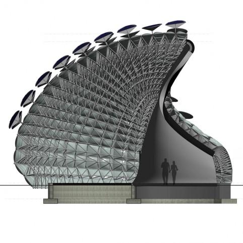 Active solar cells system for building envelope